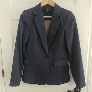 Jackets & Blazers - Woman suit blue/white worn once